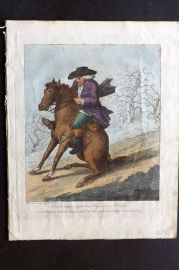 Henry Bunbury 1812 HC Horse Satire. How to travel upon two Legs in a Frost